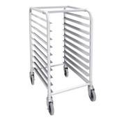 "10-TIER PAN RACK W/ 4 X CASTERS ( 2X LOCKING, 2 REGULAR) 20 1/4"" X 26"" X 38 1/2"", K/D, NSF"