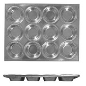 12 CUP MUFFIN PAN, 3.5 OZ EACH CUP