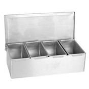 4  S/S COMPARTMENT CONDIMENT