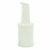 1 QT STORER AND POUR, WHITE