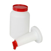 2 QT STORER AND POUR, RED