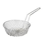 "12"" ROUND, CULINARY BASKET NICKEL PLATED, COARSE MESH"
