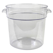 18 QT ROUND FOOD STORAGE CONTAINER, PC, CLEAR