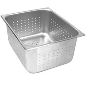 """FULL SIZE 2 1/2"""" DEEP PERFORATED 24 GAUGE STEAM PANS"""