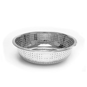 """11"""" CHINESE COLANDERS W/ 4.5 MM HOLES, STAINLESS STEEL"""