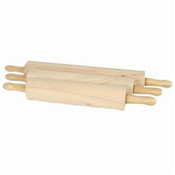 "ROLLING PIN, 15"", 3 1/4"" DIA. WOODEN"
