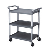 "33 1/2"" X 16 1/8"" X 37"" 3-TIER BUS CART, GREY( KD )"