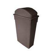 TRASH CAN, 23 GALLON, BROWN, PLASTICS