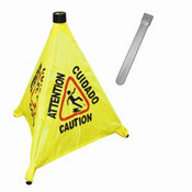 "19 1/2"" POP-UP SAFETY CONE WITH STORAGE TUBE"