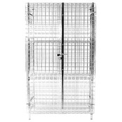 """24""""X48""""x63"""" SECURITY CAGE ONLY, HEAVY DUTY CHROMATE FINISHED"""