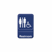 """6"""" X 9"""" INFORMATION SIGN WITH SYMBOLS, RESTROOMS/ ACCESSIBLE"""