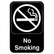 "6"" X 9"" INFORMATION SIGN WITH SYMBOLS, NO SMOKING"