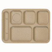 "14 1/2"" X 10"" LEFT HAND 6 COMPARTMENT TRAY, SAND"