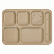 "14 1/2"" X 10"" RIGHT HAND 6 COMPARTMENT TRAY, SAND"