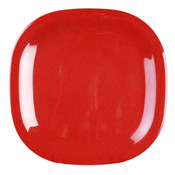 "14"" X 14"" ROUND SQUARE PLATE, PASSION RED"