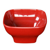 "14 OZ, 4 3/4 X 4 3/4"" ROUND SQUARE BOWL, 2 1/2"" DEEP, PASSION RED"