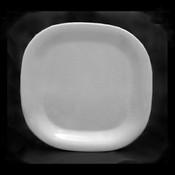 "11"" X 11"" ROUND SQUARE PLATE, PASSION WHITE"