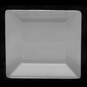 """13 3/4"""" X 13 3/4"""" SQUARE PLATE, 1 1/8"""" DEEP, PASSION WHITE"""