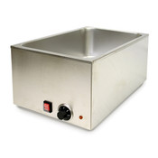 STAINLESS STEEL FOOD WARMER, BRUSHED FINISH