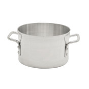 26 QT ALUMINUM SAUCE POT, MIRROR FINISH
