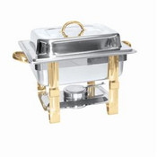 4 QT GOLD ACCENTED CHAFER