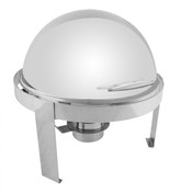 6 QT ROUND ROLL TOP STAINLESS STEEL HANDLE