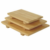 """8 1/2"""" x 4 3/4"""" x 1 1/4"""" BAMBOO SUSHI PLATE SMALL"""