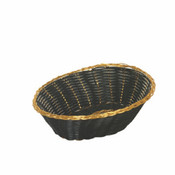 """PLASTIC BREAD CONTAINER OVAL GOLD 9 1/4"""" X 7"""" X 2 1/4"""""""