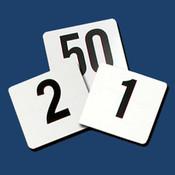 """4"""" X 4""""  PLASTICS TABLE NUMBERS 1-50"""