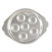 SNAIL DISH, 6 HOLES, STAINLESS STEEL