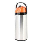 2.2 lt/74 OZ Airpot, S/S Body, Glass Lined,  Lever Top, Decaf