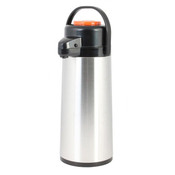 2.2 lt/74 OZ Airpot, S/S Body, Glass Lined,  Push Button, Decaf