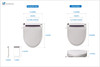 Bluwash 103R Elongated Electric Bidet Seat With Drier Remote Control Instant Water and Seat Heating Soft Close Lid