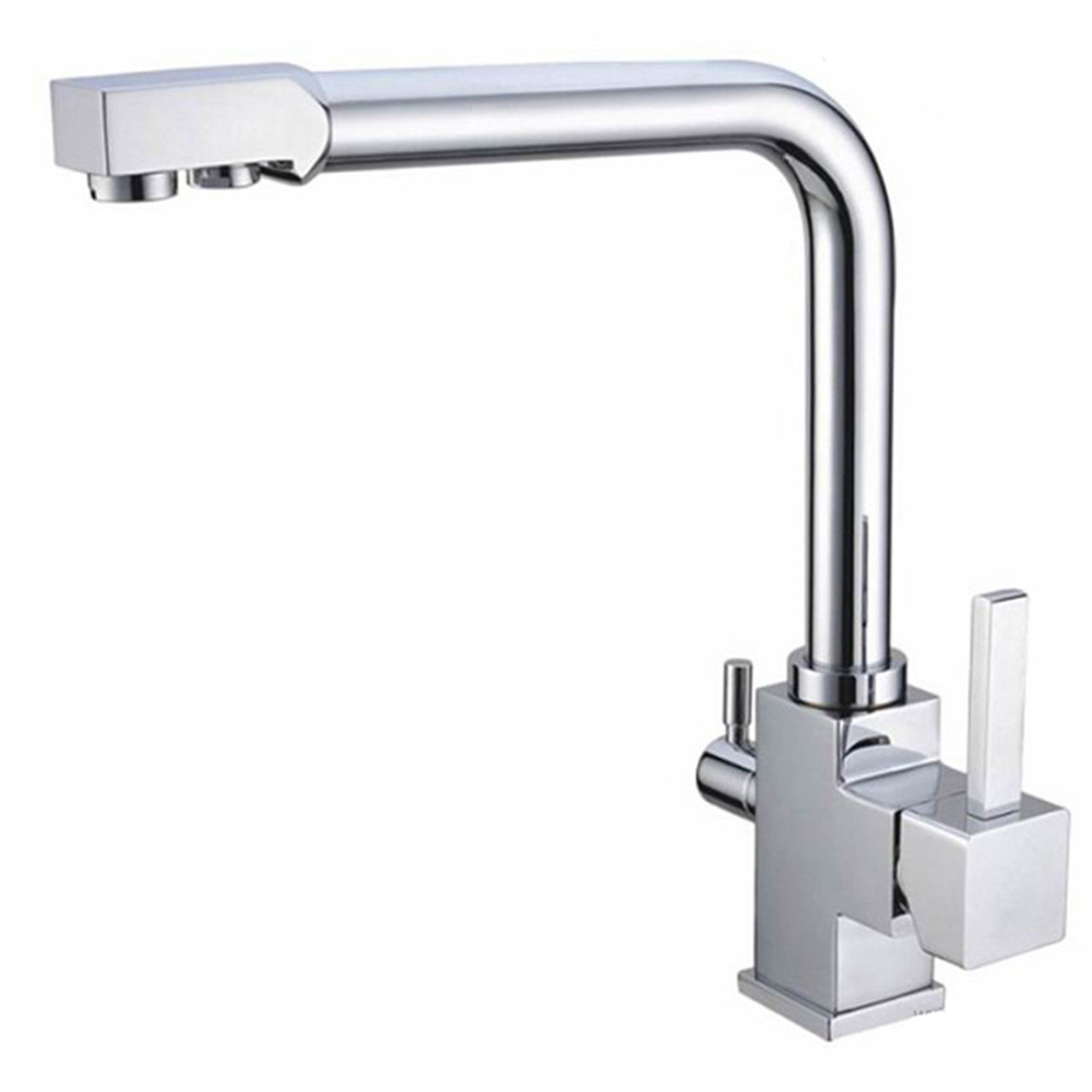 kitchen sink water taps waterlux wl 306 n brushed nickel three way cold 6031
