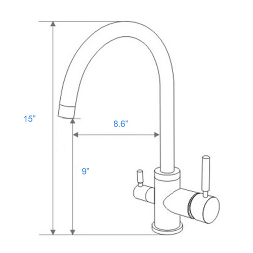 ... WaterLux WL 302 Round Elegant 3 Way Kitchen Faucet For RO System ...