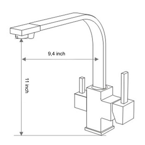 Way Kitchen Faucet For Ro System
