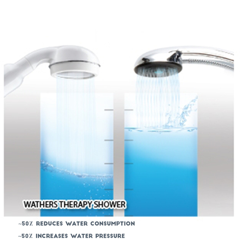waters therapy shower inline filter aroma therapy collagen mini water softener