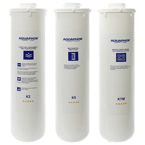 Aquaphor RO-101 Replacement Filters Set K5K2K7M
