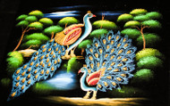 Peacock Couple in the Woods