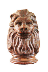 Wooden Lion Head