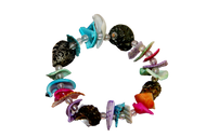 Coloured Handmade Seashells Bracelet  - Set of 5