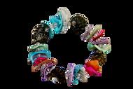 Coloured Handmade Seashells Bracelet  - Set of 5