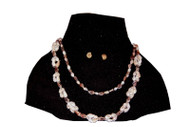 Seashells Necklace & Ear Studs - Blue/Pink