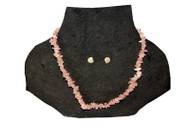 Coral Stoned Necklace - Light Pink