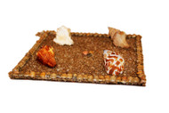 Wall Hanging of Four Clam Shells with Sea Sand