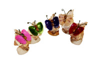 Decorative Butterfly made of Lacquered Seashells