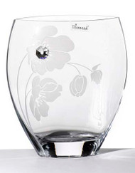 21 cm Elegant Thick Unique Hand Blown Glass Flower Vase with Swarovski Crystal and Flower Decoration…
