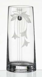 27 cm Elegant Thick Unique Hand Blown Glass Flower Vase with Swarovski Crystal and Flower Decoration…