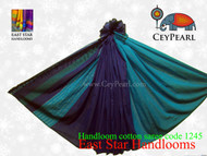 Handloom Cotton Saree - 1245 - Cyan & Royal Blue