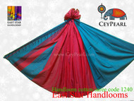 Handloom Cotton Saree - 1240 - Cyan & Hot Pink